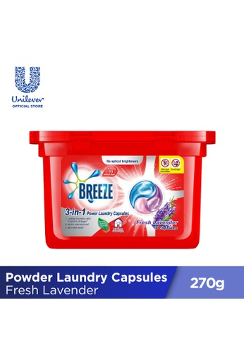 Breeze Breeze Fresh Lavender 3-in-1 Power Laundry Capsules 270g 2A931ES34C1DB7GS_1