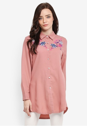 BYN pink Embroidery Shirt 51376AA5DDCC53GS_1