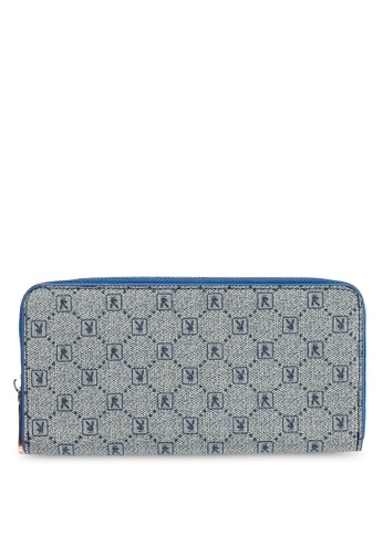 PLAYBOY BUNNY blue Playboy Bunny Zipper Purse 23892AC2ABF8D6GS_1