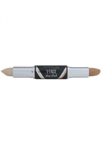 Maybelline beige Maybelline Face Studio V-Face Duo Stick [Light] MA671BE72YXRMY_1