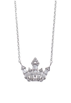 Diadem Silver Earrings and Necklace