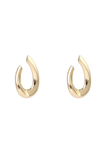 niko and ... gold Thick Hoop Earrings 5B7B9ACB925318GS_1