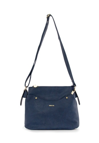 SEMBONIA blue SEMBONIA Synthetic Leather Crossbody Bag (Blue) 7A3CEACD02BB94GS_1