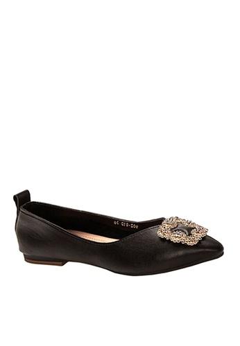 Twenty Eight Shoes black Pointed Ballerinae with Rhineston Buckle VF90281D B8ABDSHC3A1B2CGS_1