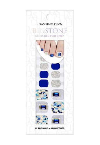 Dashing Diva blue Dashing Diva Gloss Gel Strip Pedicure Rigel / Nail Sticker /Nail Wraps 49BEABE438F6F4GS_1