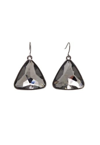 Jaysa Collection black Dark Glamour Triangle Earrings JA875AC69PMOSG_1