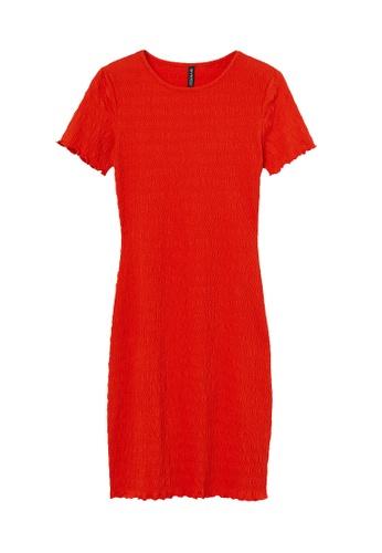 H&M red Smocked Dress 1FBC6AA83F40F6GS_1