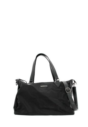 SEMBONIA black SEMBONIA Men Nylon Trim Leather Bag (Black) 3A829AC5DEC830GS_1