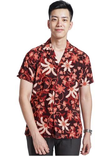 Flike Batik multi Kemeja Batik Hawaiian Motif Sintrong Membara 3634AAA98E34F4GS_1