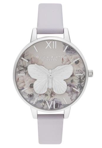 Olivia Burton multi Olivia Burton 3D Butterfly Parma Violet Women's Watch (OB16PP58) C858EACCD64354GS_1
