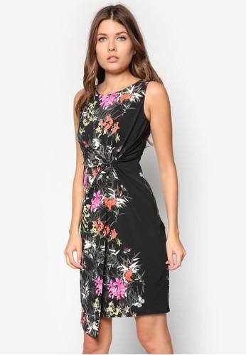 Petite 花卉扭結連zalora 心得身裙, 服飾, 服飾