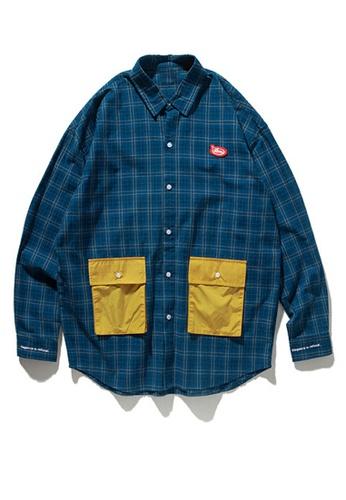 Twenty Eight Shoes Vintage Plaid Panel Pocket Shirt 92118W D5602AA8586C10GS_1