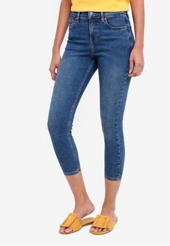 TOPSHOP blue Petite Rich Blue Jamie Jeans 2BAADAAC6651CBGS_1