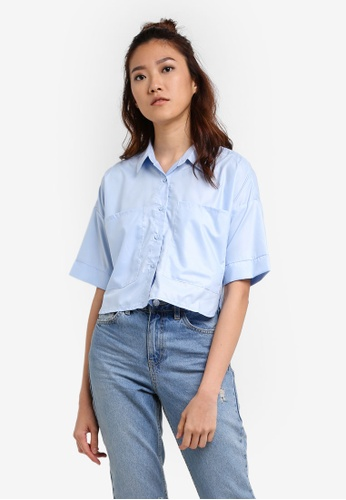 Something Borrowed blue Boxy Shirt 29CA2AA4B265DCGS_1