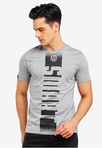 Volkswagen 灰色 品牌印花T恤 37D1DAA29231C7GS_1