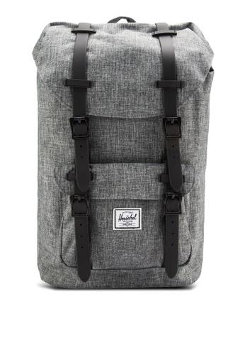 Herschel grey Little America Mid Volume Backpack HE114AC24IETMY_1