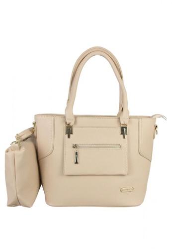 DNJ beige Ladies Bag with Sling Bag DN487AC0JF71PH_1