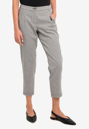 ESPRIT black Checkered Pants 2CE98AADF94F6FGS_1