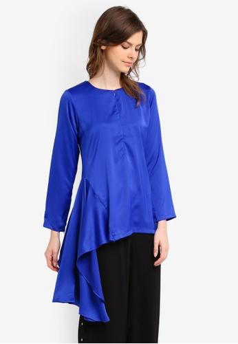 Nuraini blue Hanna Top NU222AA0SS3RMY_1
