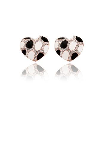 Glamorousky white Elegant Fashion Rose Gold Plated Heart Shape Austrian element Crystal Earrings E605EAC3E5D2AAGS_1