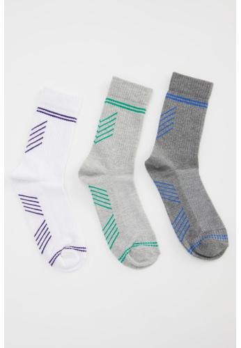 DeFacto white 3-pack Socks 408AEAA97D92BDGS_1