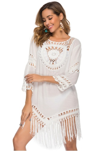 LYCKA white LTH4125-European Style Beach Casual Outer Dress-White C5FF0US7127F18GS_1