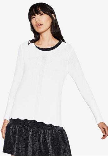 ESPRIT white Long Sleeve Jumper CC3D6AA6D15BD4GS_1