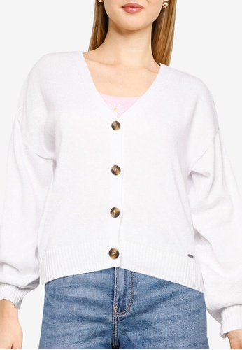 Hollister white Classic Buttoned Cardigan 1935CAAB6CFA86GS_1