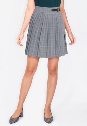 ZALORA WORK multi Plaid Pleated Mini Skirt FD288AA3DCFF9BGS_1