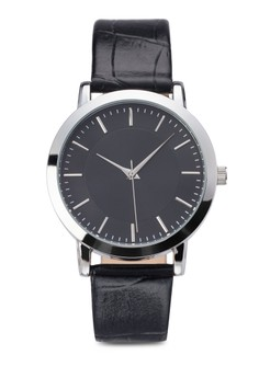 Plain Dial Round Face Strap Watch