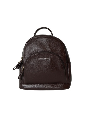 EXTREME brown Extreme Genuine Leather Compact Backpack Multi Slots Chocolate Brown 9A85FAC7B6B9A3GS_1