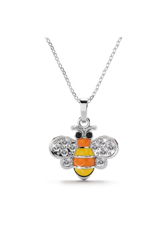 Krystal Couture gold KRYSTAL COUTURE Bumblebee Crystal Necklace White Gold Layered Jewellery 577F9ACE2B8A57GS_1