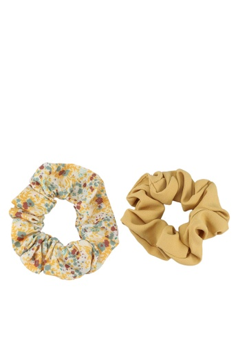 Red's Revenge yellow 2-In-1 Flower & Solid Scrunchie B7945ACE58DD06GS_1