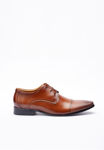 Kings Collection brown Trento Leather Shoes 7A232SHD276C99GS_1