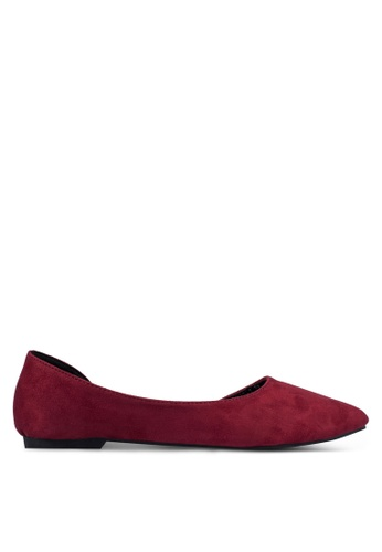 Mimosa red Pointed D'orsay Flats MI065SH0RSSSMY_1