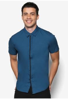 Mesh Stripe Short Sleeve Shirt