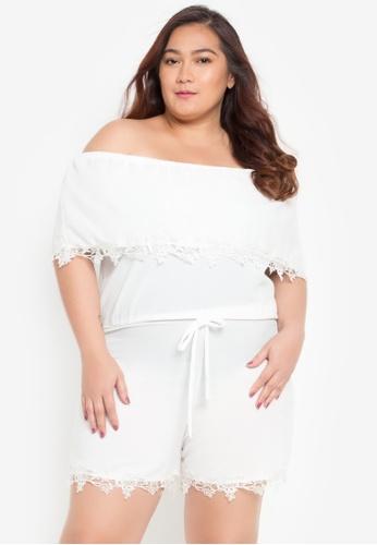 Shop Hug Plus Size Romper Shorts Online On Zalora Philippines