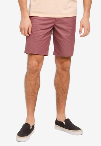 Burton Menswear London 粉紅色 修身休閒短褲 BU964AA0T1I7MY_1