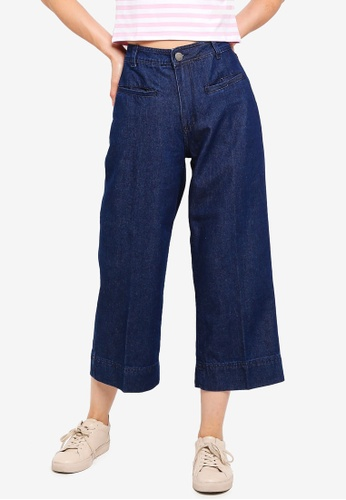 Cotton On blue Mid Rise Wide Leg Crop Jeans 60529AA15A50A5GS_1