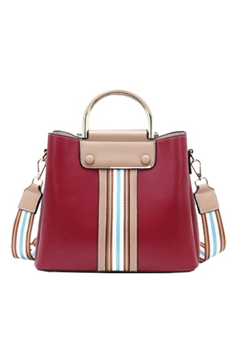 Twenty Eight Shoes red VANSA Color Matching Cow Leather Hand Bag VBW-Hb2262 0C710ACBD492A4GS_1