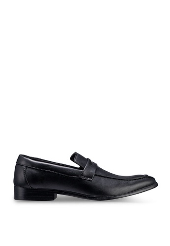 UniqTee 黑色 Penny Loafer Dress Shoes 93831SH93E3A27GS_1