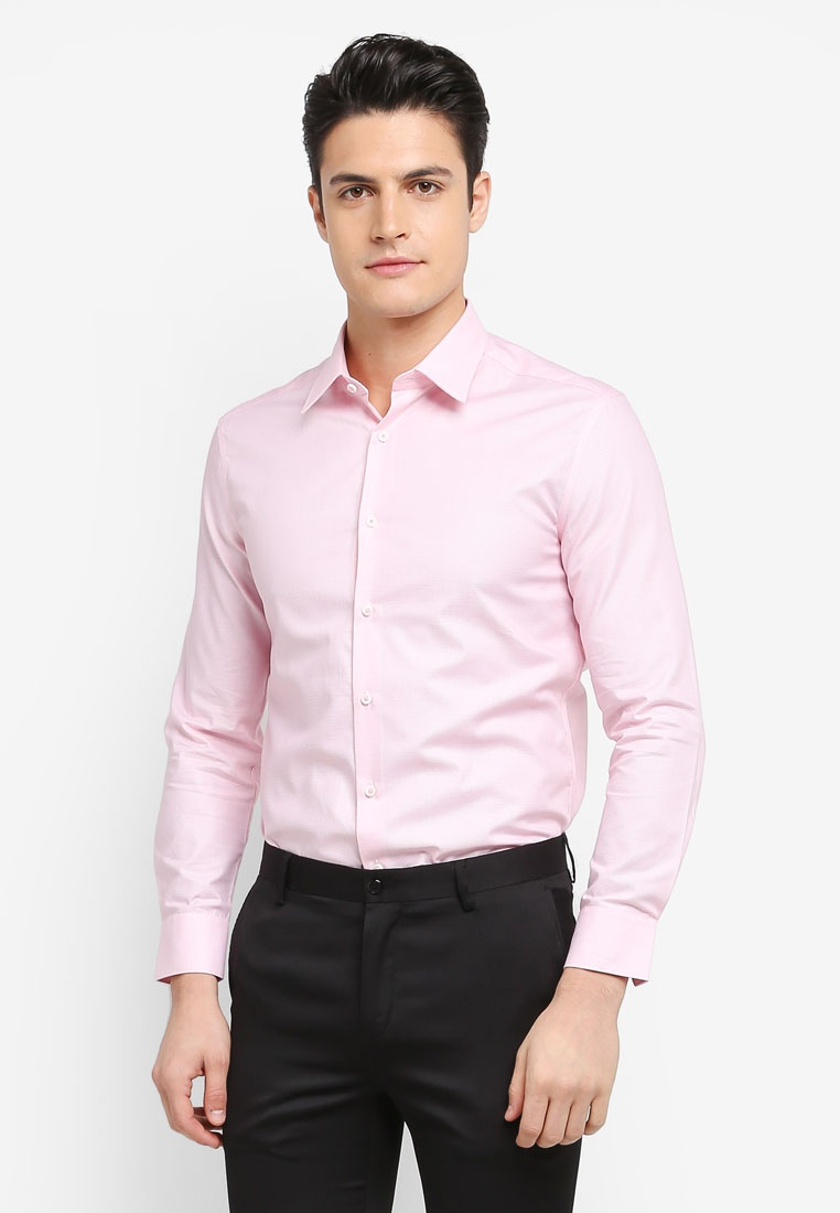 2 Shirt G2000 Pattern Tone Sleeve Pink Sea Long UrUZqH