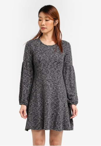 Dorothy Perkins grey Fit And Flare Dress DO816AA0SRDQMY_1