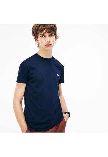 Lacoste blue Lacoste Men's Crew Neck Pima Cotton Jersey T-shirt 8FE7EAACA7AB7FGS_1