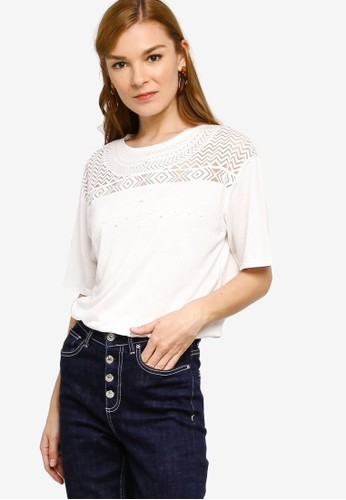 Desigual white Nantes T-Shirt C6BF0AAD9CC26AGS_1