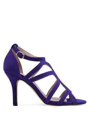 Dorothy Perkins 藍色 麂皮繞帶高跟鞋 8891ESHF9C48BAGS_1
