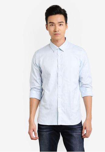 CR7 藍色 長袖襯衫 CR532AA63EGEMY_1