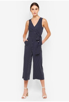 efb5018a0a FORCAST navy Ayla Crossover Jumpsuit 40564AA5A11CA3GS 1