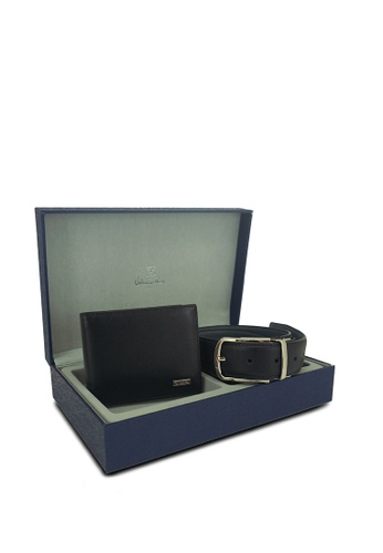 Valentino Rudy black Valentino Rudy Gents Leather Wallet and Belt set 22F95AC7CDE7F6GS_1
