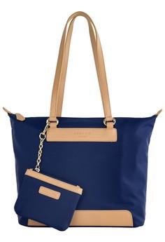 PRM Nylon Leather Trims Tote Bag